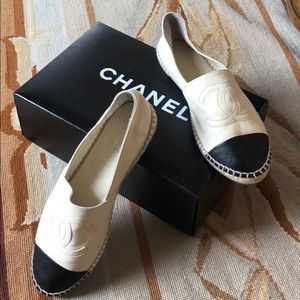 Chanel Leather Espadrille Size 7